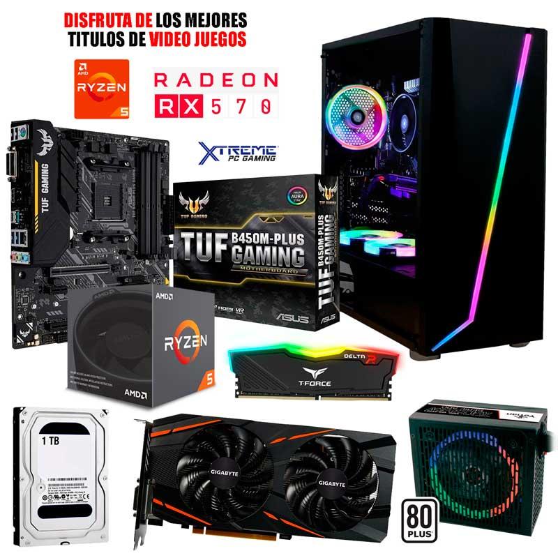 Pc Gamer Xtreme Amd Ryzen 5 2600 Ram 8Gb Disco 1tb Radeon Rx 570 4gb