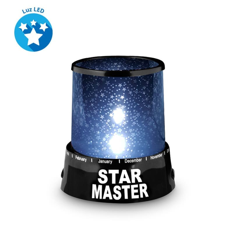 Redlemon Lámpara Proyector de Estrellas para Niños, 2 Modos de Luces LED de Colores, Baterías o USB