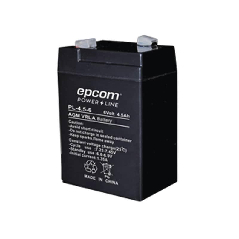 Bateria Epcom De 6 Vdc A 4.5 Ah