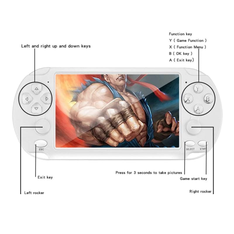 Consola Portatil con mas de 1000  juegos clasicos LCD de 5.1 pulgadas
