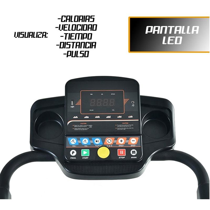 Caminadora Electrica Plegable Centurfit 1.25 Hp  12 Programas Fitness