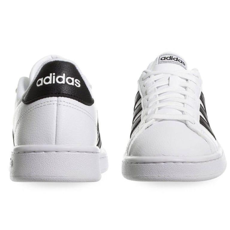 Tenis adidas Grand Court Blanco/negro - F36483 + Mochila + Bocina