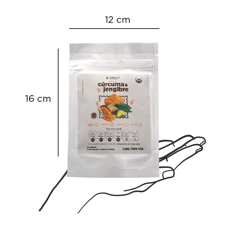 Cápsulas Cúrcuma y Jengibre | 90 cápsulas - 500 mg | Raíces Verdes