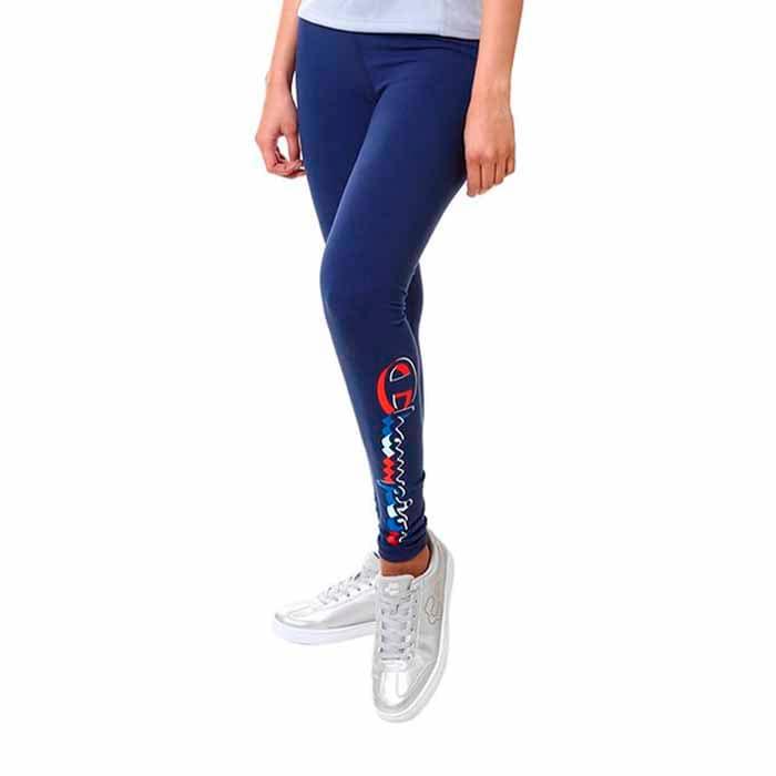 Leggins Champion Mujer Logo Multicolor Azul