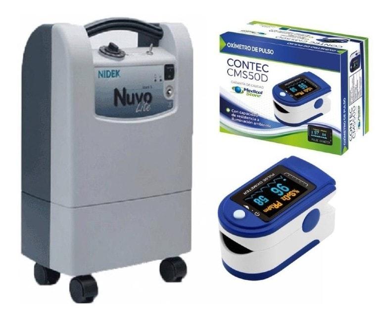 Concentrador De Oxigeno 5 Litros Nuvo Lite Nidek + Oximetro