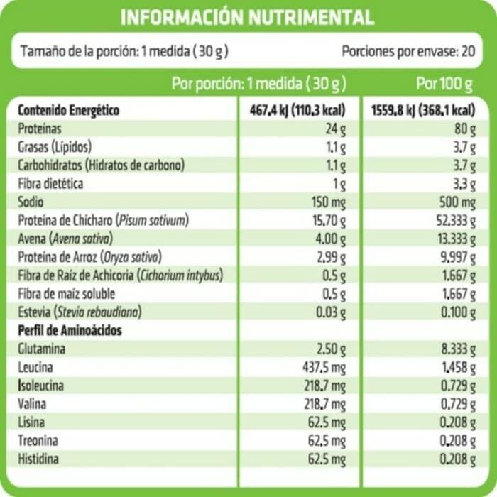 Proteina vegana sabor chocolate Healthaddiction - 600 gramos
