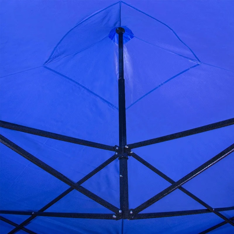 Carpa 3x3 Toldo Plegable Reforzado Impermeable Azul Jardin Exterior