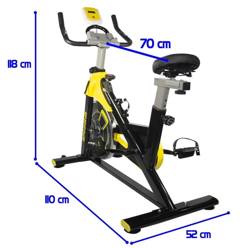 Bicicleta Spinning Fija 11 Kg Centurfit Fitness Gym Estatica