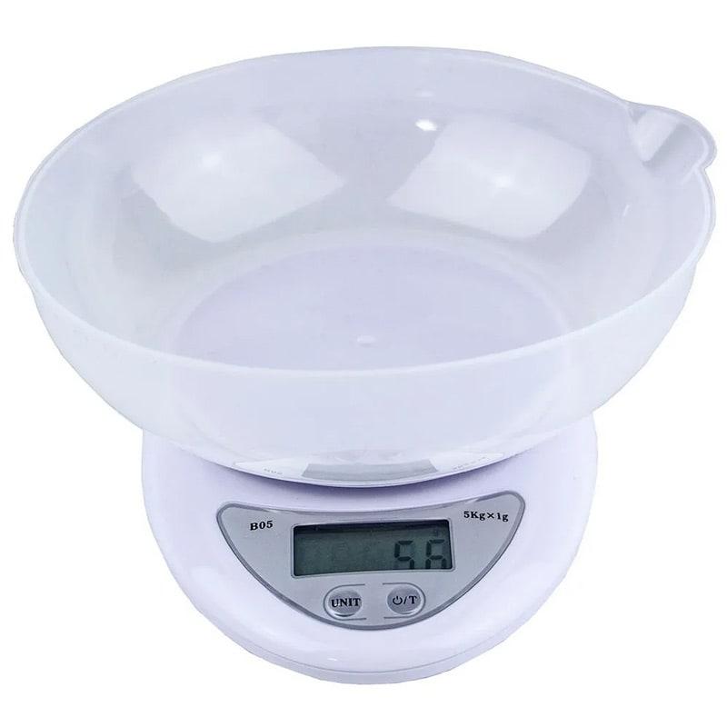Bascula Digital 5 Kg Multiusos Gramera Para Cocina Con Tazon