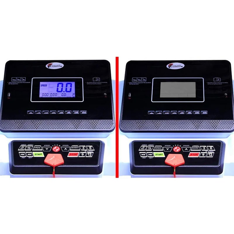 "Caminadora Electrica Plegable 2 HP  Walk Pantalla 5"" LCD 110Kg Inclinacion 12 Programas Centurfit 14.8 km/h Blanca"