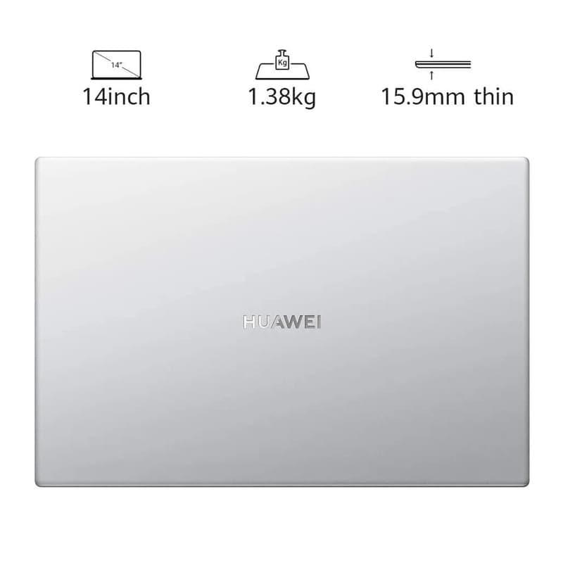 LAPTOP HUAWEI MATEBOOK D14 RYZEN 5 3500U 8GB SSD 512GB VEGA 8 / 1 AÑO DE GARANTIA + XIAOMI MI BAND 4C