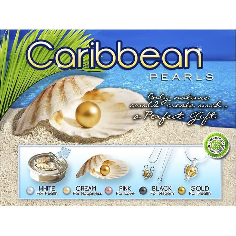 Caribbean Pearls Set De Perla Dije Y Collar