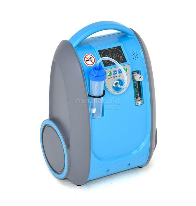 Concentrador de Oxígeno Portátil con Batería Recargable, 5 Litros, 2CARE