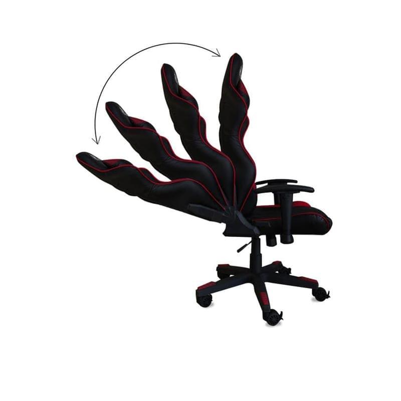 Silla Gamer, Asiento giratorio ajustable, Pistón clase 4, Inclinación ajustable, Brazos con Ajuste 4D, 5 soportes metálicos + Teclado y mouse - Rojo