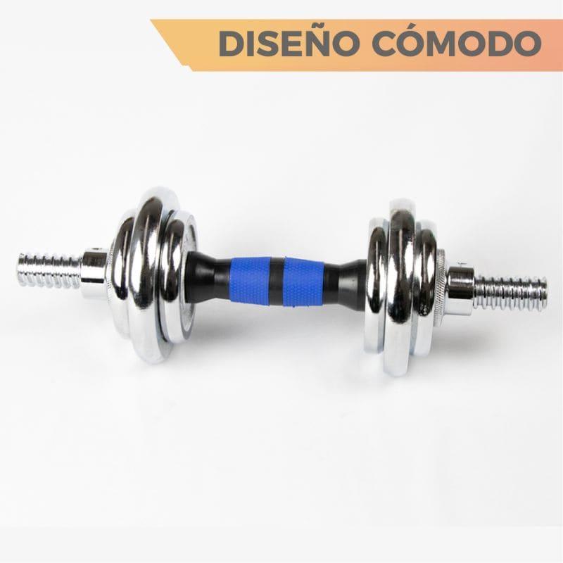 Kit De Mancuernas Pesas Con Barra Discos Ejercicio Gym 30kg