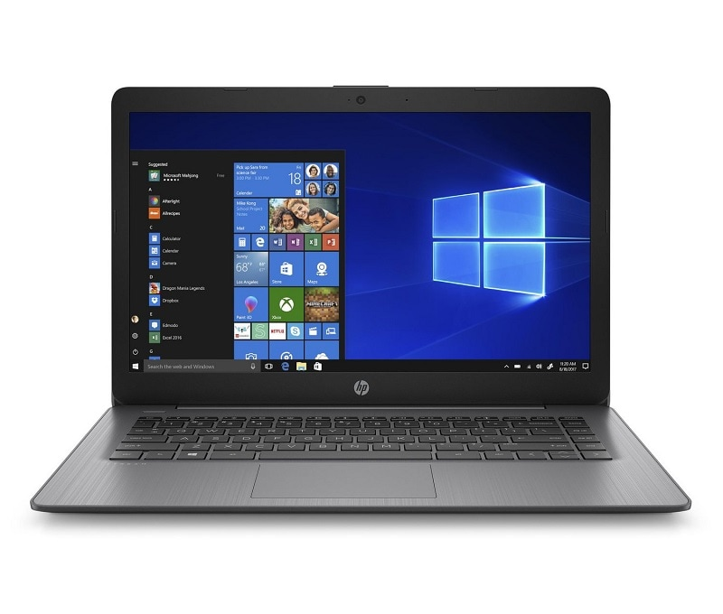 Laptop Hp Stream 14 4GB RAM 64GB Celeron N4000 W10 Negro + Mouse y base enfriador