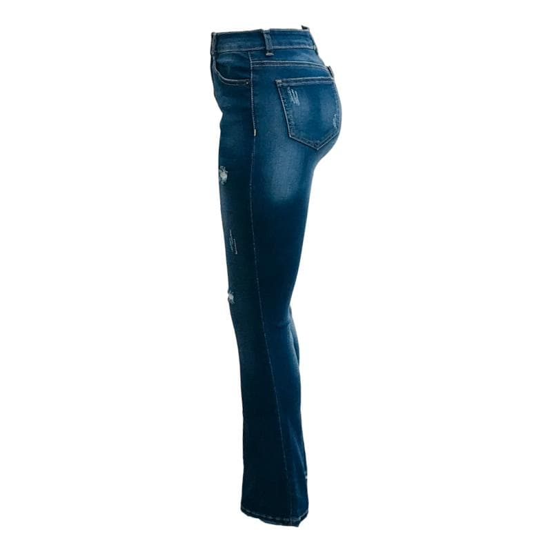 Jeans Skinny Para Mujer Pantalon De Mezclilla Rasgados Rotos Acampanad