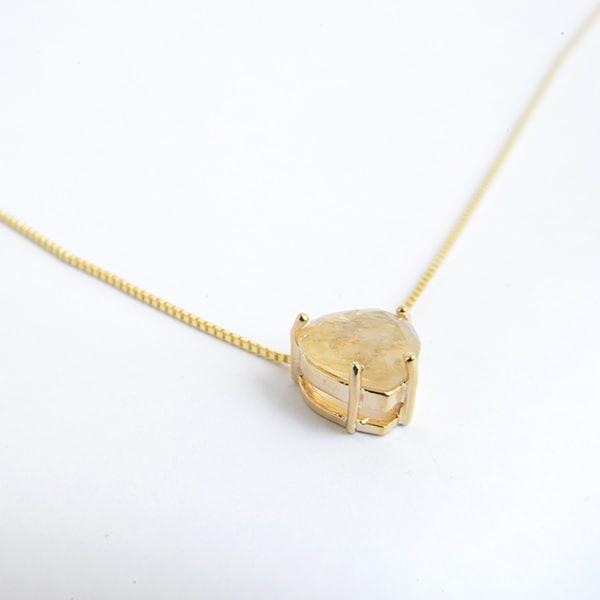 Collar Punto Corazon-Baño Oro 18k