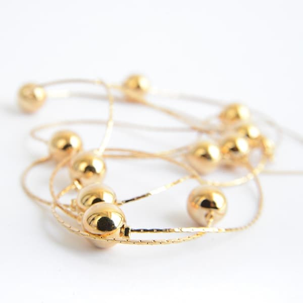 Collar Esferas-Baño Oro 18k