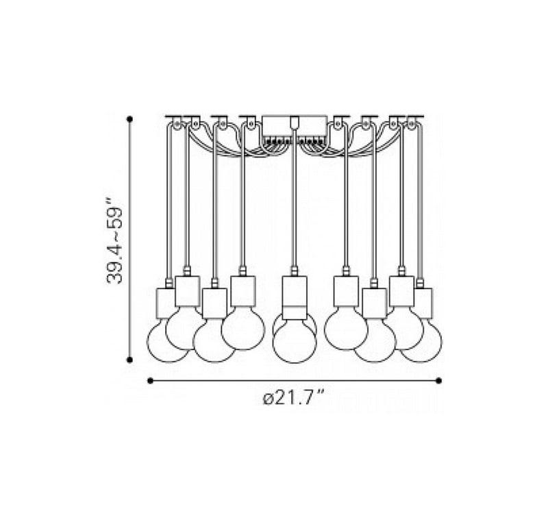 Lampara De Techo Fog - Cable - Këssa