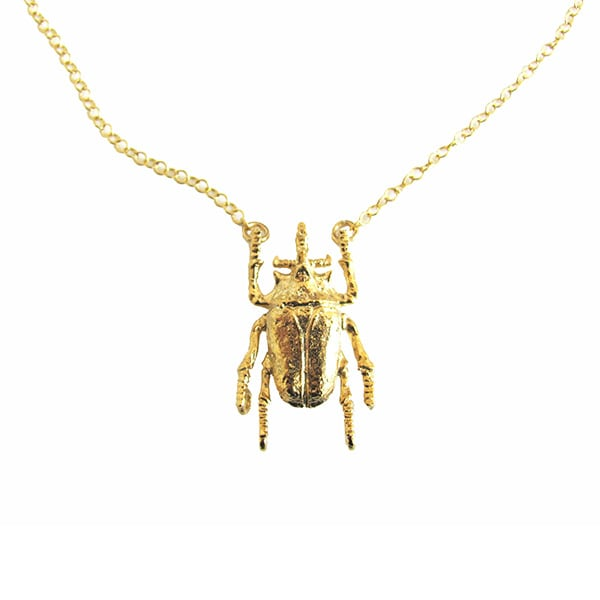 Collar Escarabajo Dorado
