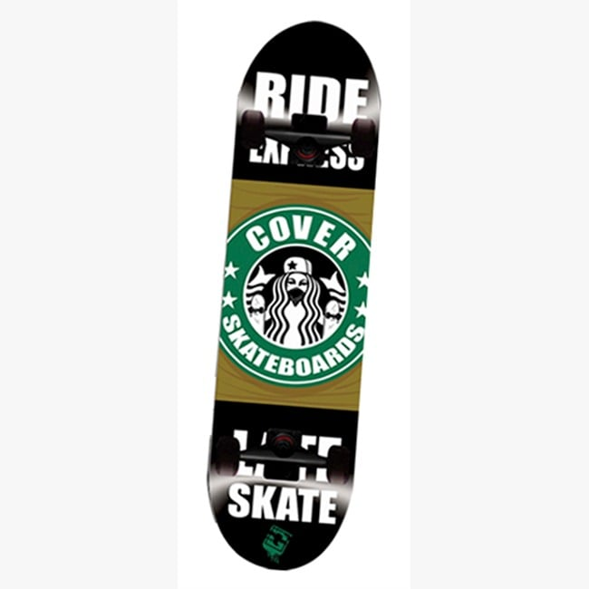 Patinetas Cover Semi-Profesionales Tablas Skate 7 Capas, Tabla de Maple Mod Coffe Skate