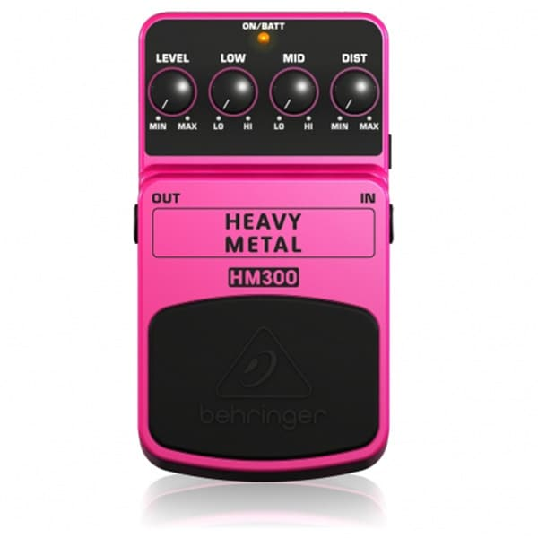 BEHRINGER HM-300 PEDAL Heavy Metal Pedal Guitarra
