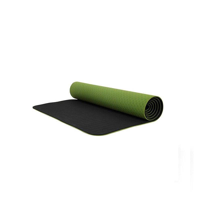 Tapete De Yoga / Yoga Mat 6mm Bodyfit Bf-ym06tx-vd Verde
