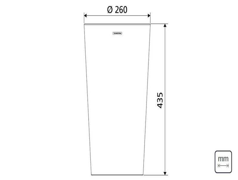 Porta Maceta De Acero Inoxidable 20 Kg 94540/736 Tramontina