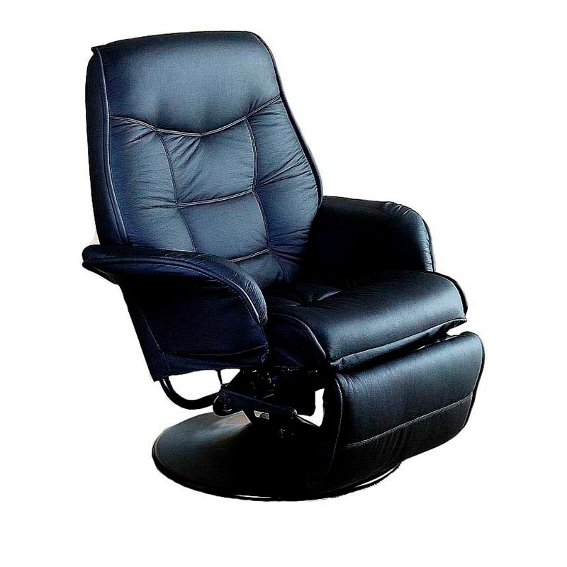 Sillon Reclinable Giratorio Color Negro 7501 Coaster