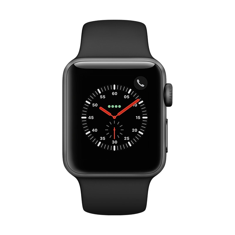 APPLE WATCH S3 38SG ALBLK SP CEL-CLA KIT