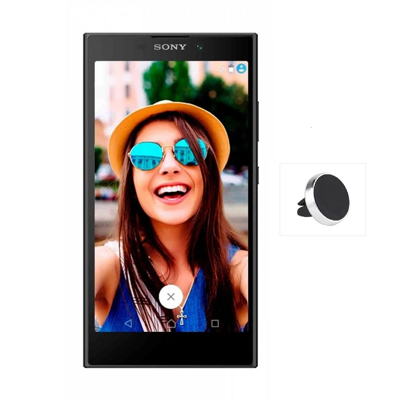 Celular SONY LTE H3321 XPERIA L2 Color NEGRO Telcel, más soporte magnético redondo