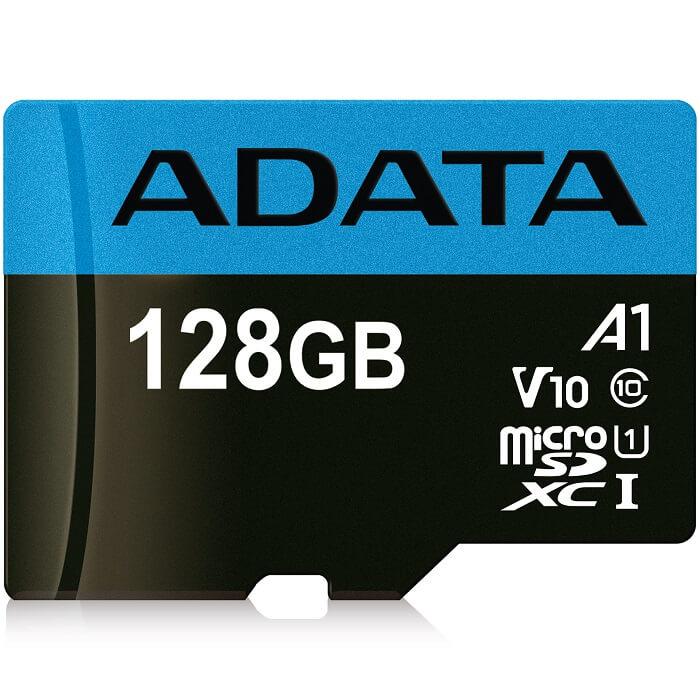 Memoria MicroSD 128 GB Adata SDXC Con Adaptador Clase 10 A1 AUSDX128GUICL10A1-RA1