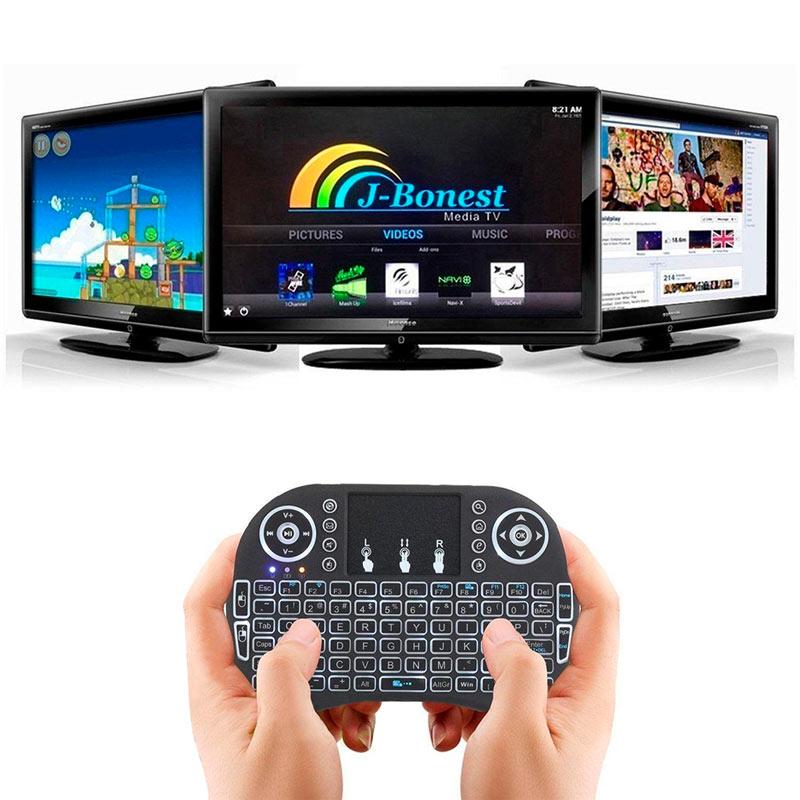 Redlemon Teclado Inalámbrico Mini USB con Touchpad para Pc y Smart Tv