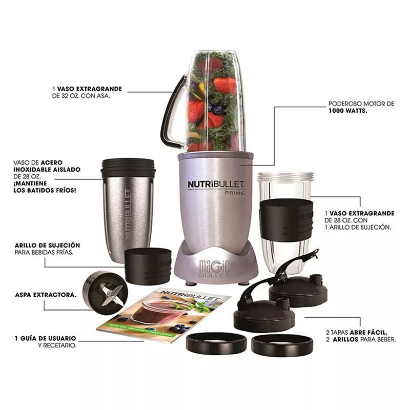 NutriBullet Prime 1000w 12 accesorios Pulverizador de alimentos y extractor - SKU 102329