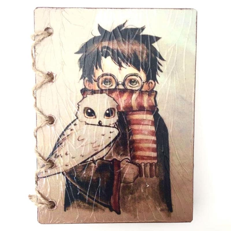 Libreta Artesanal Mediana Harry Potter