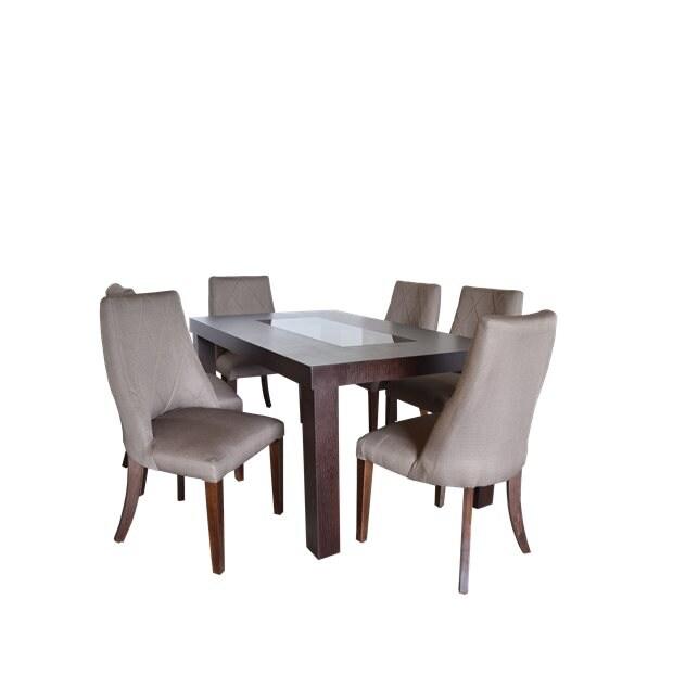 Comedor barcelona nogal - olivo - tikan furniture