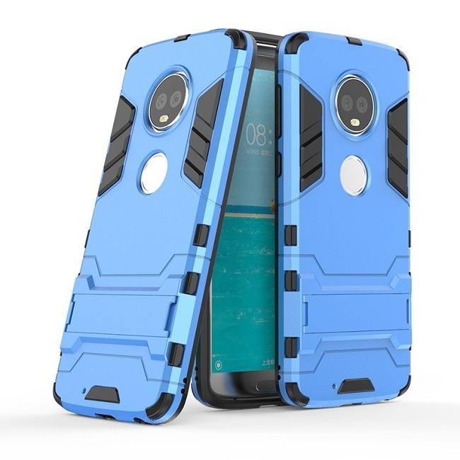 Funda Case + Cristal Moto G6 Plus XT1926-6 Protector Uso Rudo Iron Bear