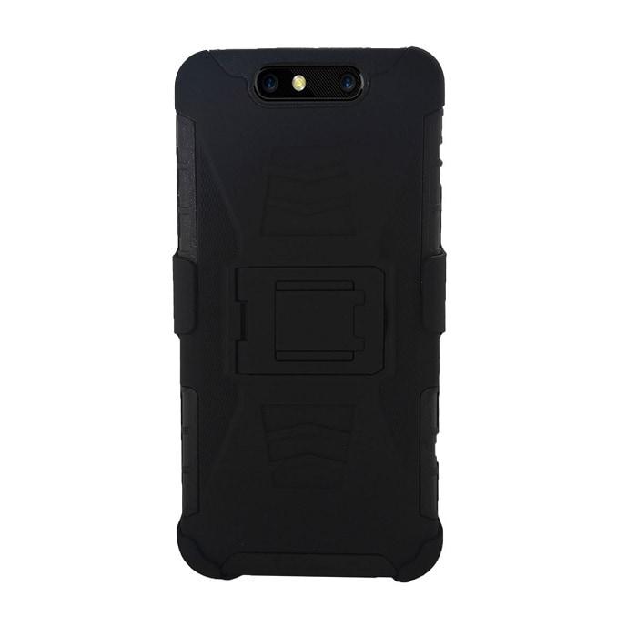 Funda Clip 3 en 1 + Cristal ZTE V8 Protector Case Uso Rudo Iron Bear