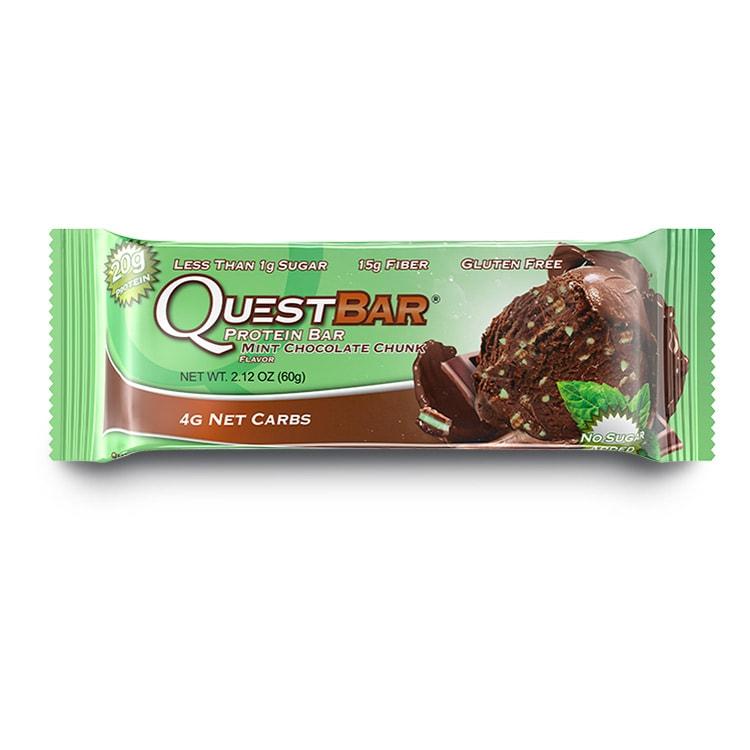 Barra de proteína Quest sabor Chocolate con Menta en Trozos
