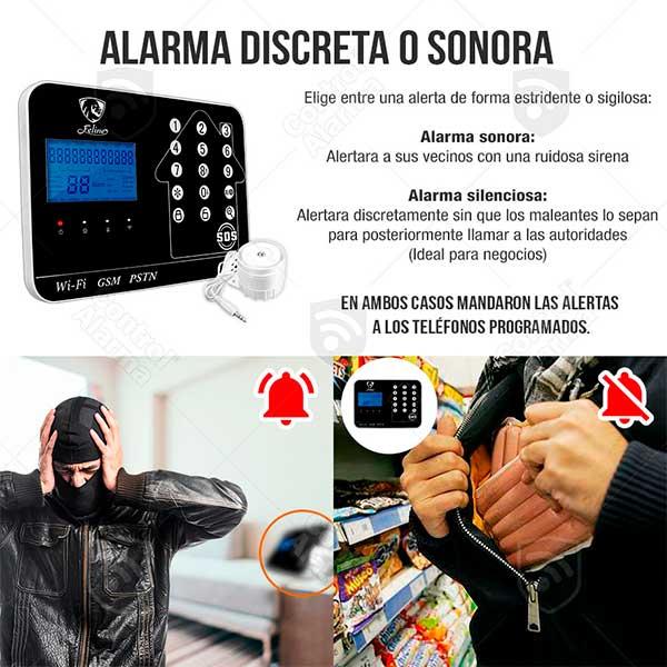 Wifi Kit 9 Alarma Plus Negra Touch GSM Cel Inalambrica Seguridad Casa