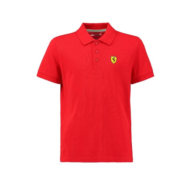 Playera Polo Cl?sica ni?os Scuderia Ferrari Colecci?n 2018