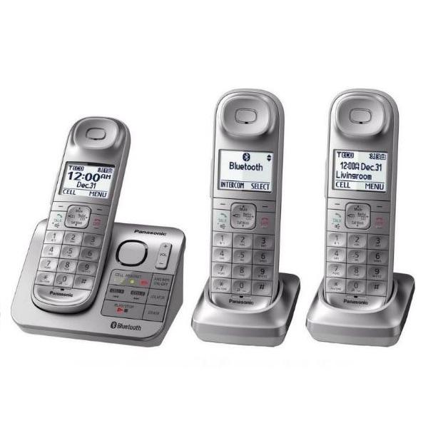 Telefono Inalambrico Panasonic Kx-tgl463s 3 Auriculares Refurbished