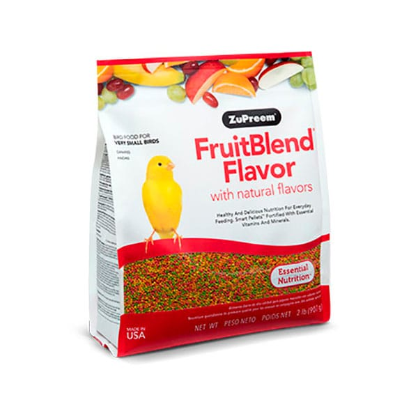 Alimento Zupreem Fruitblend Canarios Finches 907g
