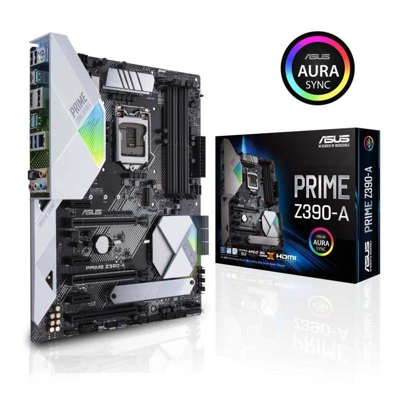 Tarjeta Madre Asus Prime Z390-a 1151 Intel 9na Gen Ddr4 Rgb
