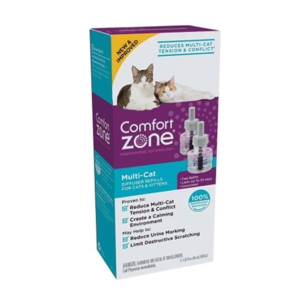 Comfort Zone Repuesto P/difusor  Feromonas Multigatos 2 Pack