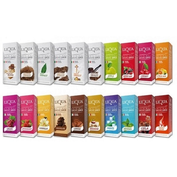 E liquid LiQua 10ml  Caja con 10 sabores diferentes