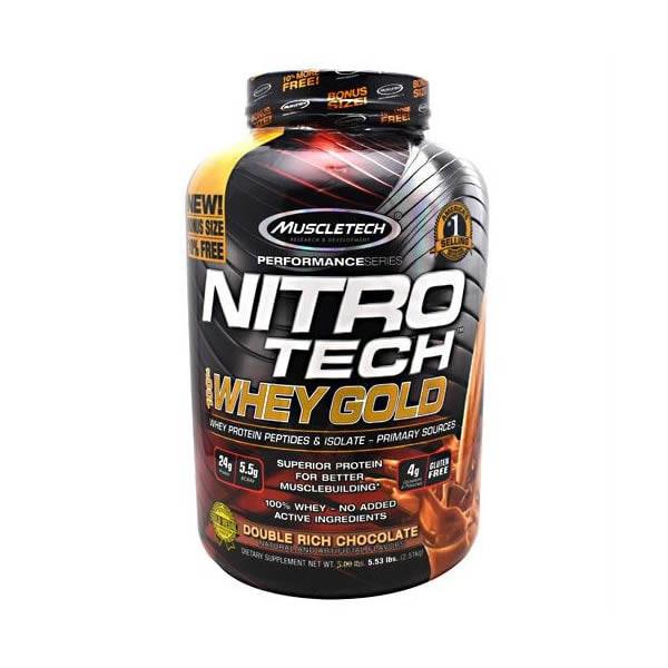 Proteina Muscletech NitroTech Whey Gold 76 Servicios - Chocolate