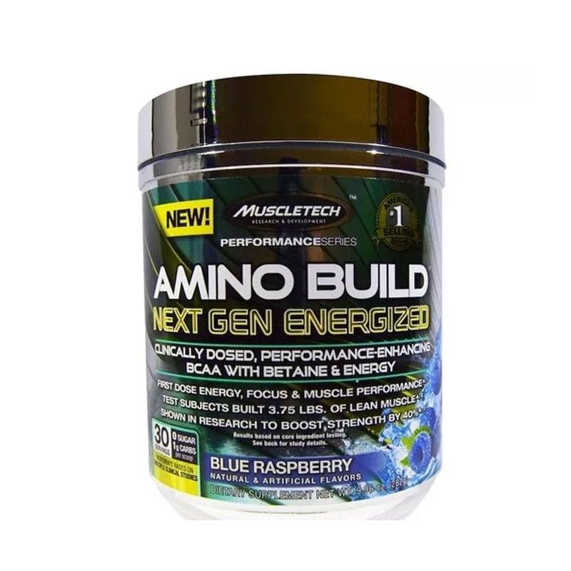 Suplemento Amino Build Next Gen Muscletech 30 Servicios Frambuesa
