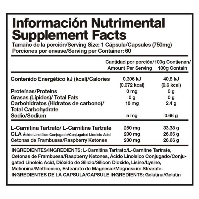 Suplemento Alpha Nutrition Termogenico Shh Con Cetonas 60 Caps